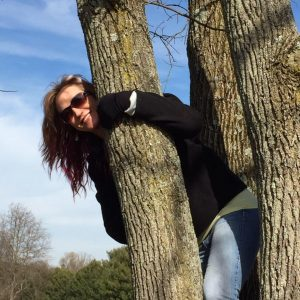 Sharon in a tree