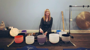 Sharon with bowls